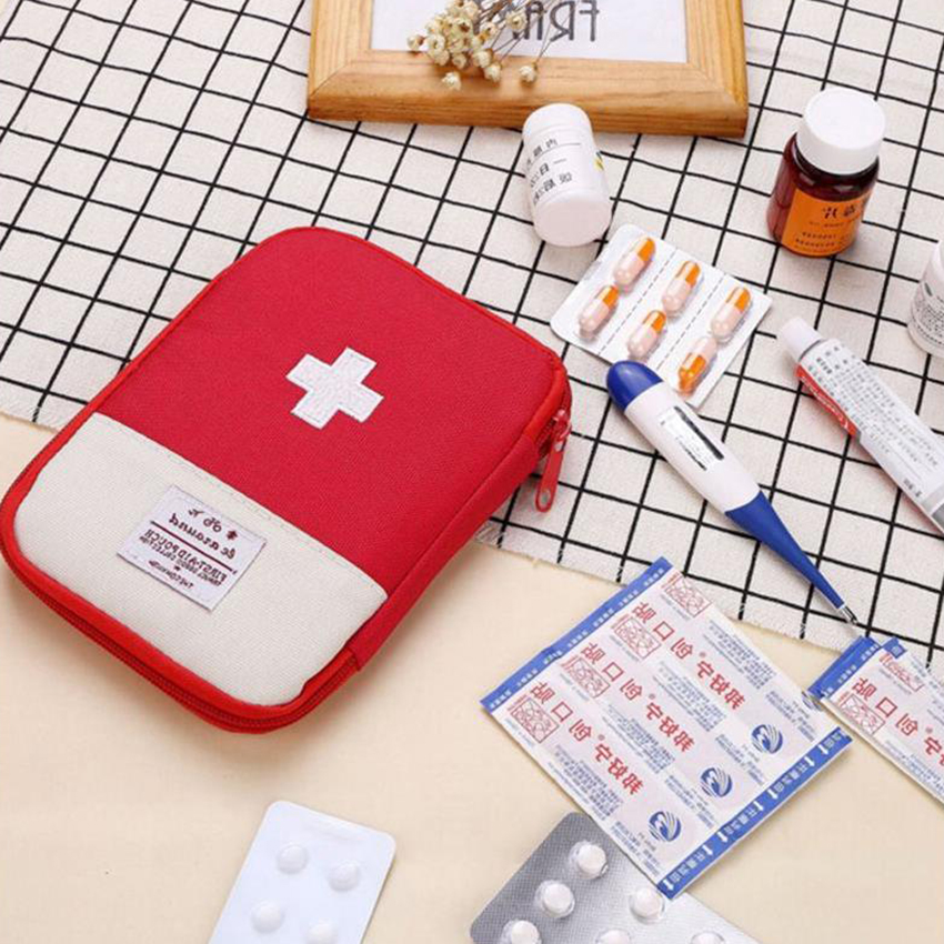 Small Large Portable Travel Emergency Medicine Storage Kit, Outdoor Camping Medicine Divider Bag,  First Aid Kit Organizer