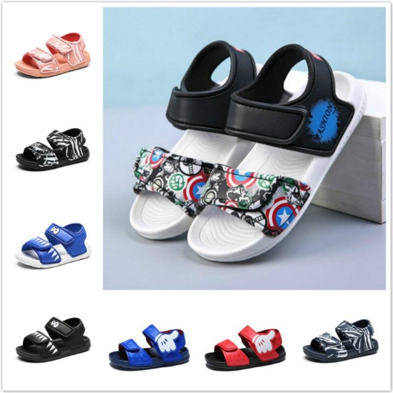 Summer Baby Boys New Non-slip Beach Shoes Girls Open Children's Sandals Wild Boys Shoes Student Soft Toddler Kids Sandals