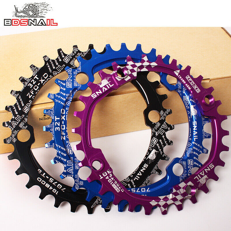SNAIL 104BCD 32-42t Bike Chainring Round//Oval Narrow Wide Cycling Chainwheel