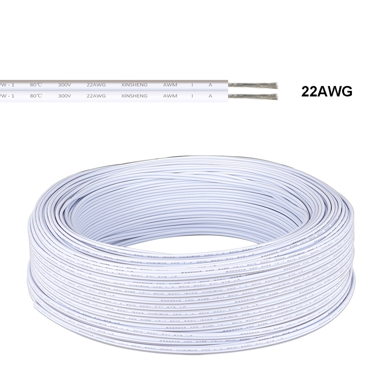 5/10/20/30/50/100m SM JST Connector Cable 2pin Electrical Wire LED Connector Cable For 2835 5050 Strip Led Modules Controller