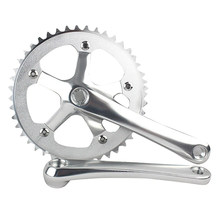 Road Bicycle CNC 44T Crankset 6061-T6 Aluminum Alloy Chainring Crank Chainwheel Fixie(China)