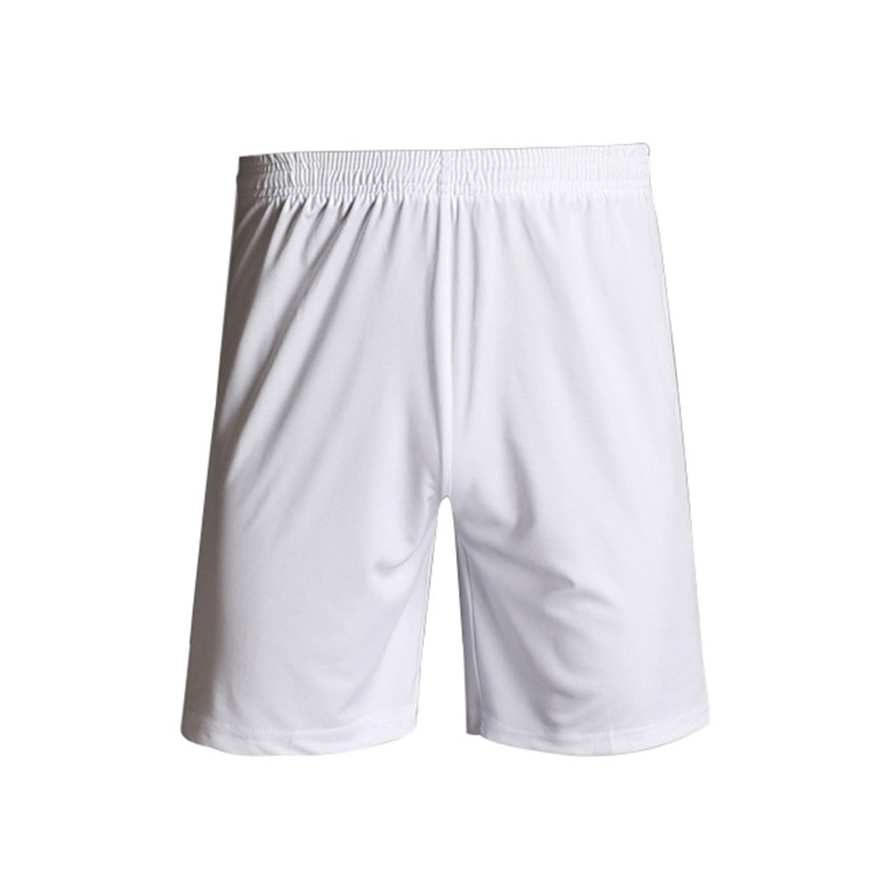Тренажерный зал Фитнес однотонные обучение Дышащие Беговые Для мужчин шорты спортивные Футбол с эластичной резинкой на талии, быстросохнущая Спортивная Повседневное - Цвет: Белый