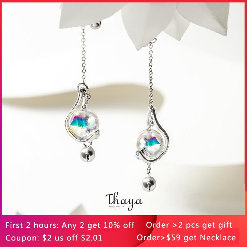 Thaya Japanese Style Earrings 925 Silver Rainbow Bubble Earrings For Girls Special Fine Jewelry