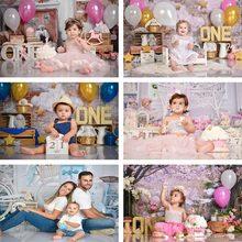 1st aniversário bolo quebra fotografia fundo rosa balão festa de aniversário flores pano de fundo decoração photocall background foto studi
