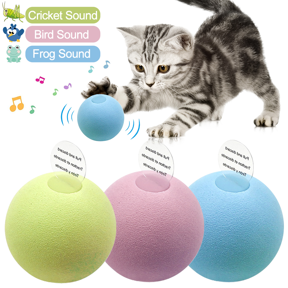 Chat intelligent jouets balle Interactive chat formation jouet animal de compagnie fournitures grinçantes produits jouet animal de compagnie jouer balle pour chaton Kitty chats