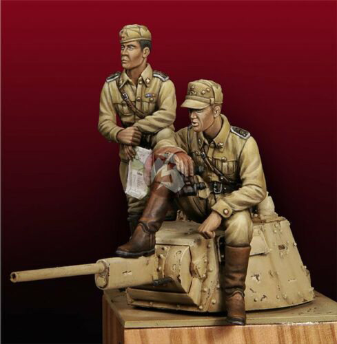 1/35 Ancient Warrior Sit Include 2 (NO TANK )    Resin Figure Model Miniature Gk Unassembly Unpainted