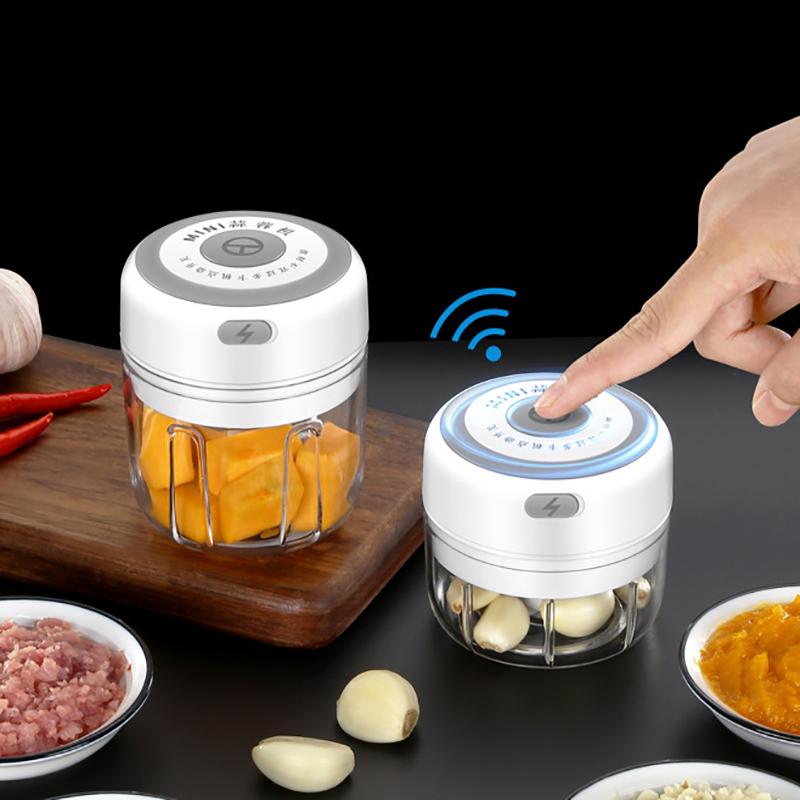 Electric Wireless Chopper Garlic Masher Meat Grinder Durable Mini Food Garlic Maker USB Charging Kitchen Crusher Chopper