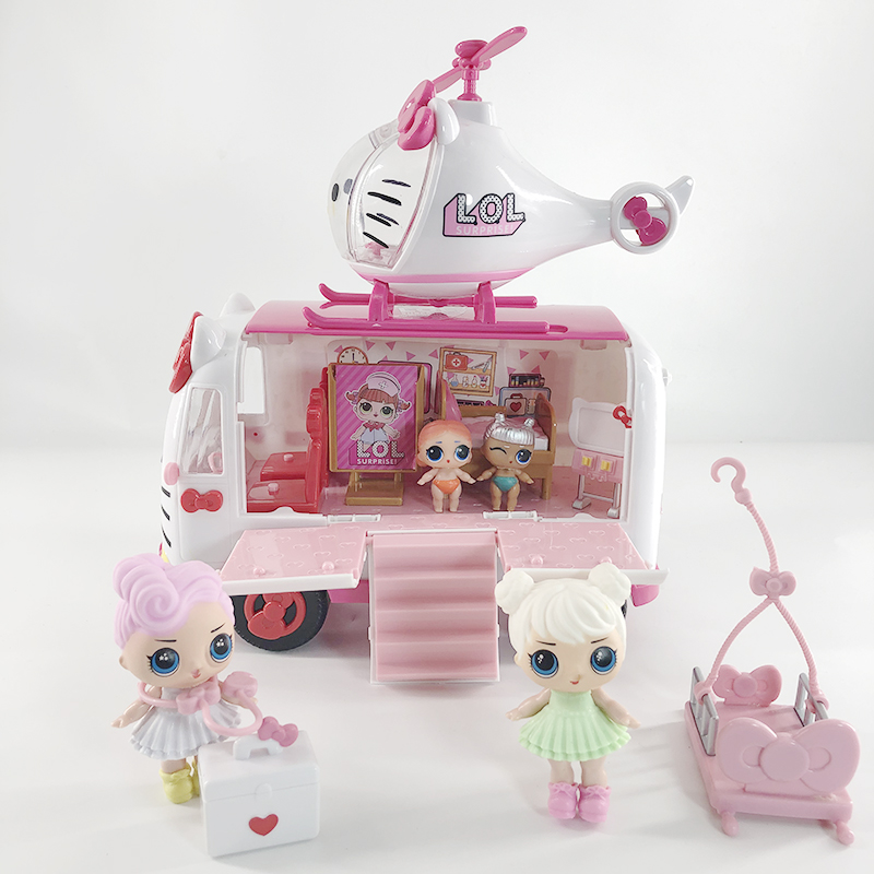LOL Dolls Surprises Original Picnic Car Bus Model Set Play House Toys DIY Action Christmas Sets For Girl's Gift