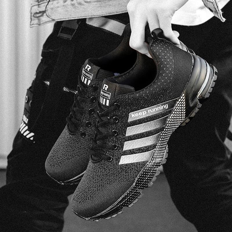 2019 Autumn New Breathable Men Shoes Casual Shoes Men Fashions Male Mesh Shoes Men Sneakers Big Size 46 Zapatillas Hombre 2