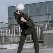 Gojo Satoru Cosplay Costume Anime Jujutsu Kaisen Cosplay Costume Men Uniform Halloween Top Pants Eyepatch Full Set Custom Made