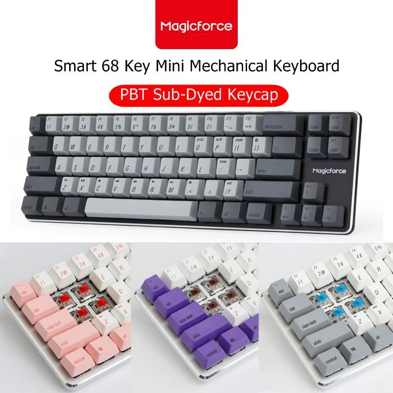 Magicforce 68 Keys Mini Gaming Mechanical Keyboard  Silver White Brown Switch