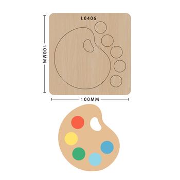 SMVAUON notatnik Die Cut Cute Bee DIY handmade nowe matryce do 2020 drewniany szablon do wycinania formy do wykrawania drewna Die tanie i dobre opinie Nieregularne Rysunek Laser mold