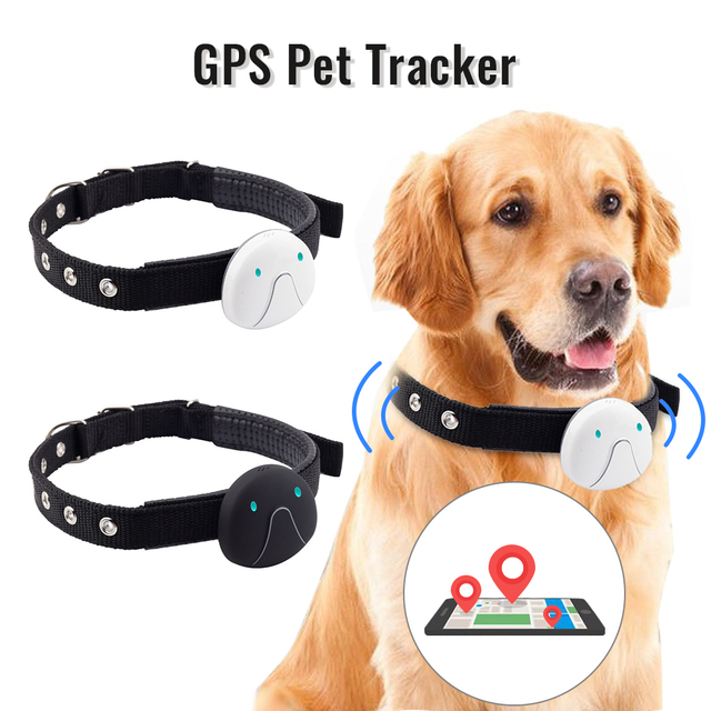Pet GPS Tracker Collar Real Time Waterproof Mini LBS WIFI Location Cat Dog With Collar Smart Electronic Durable Tracking