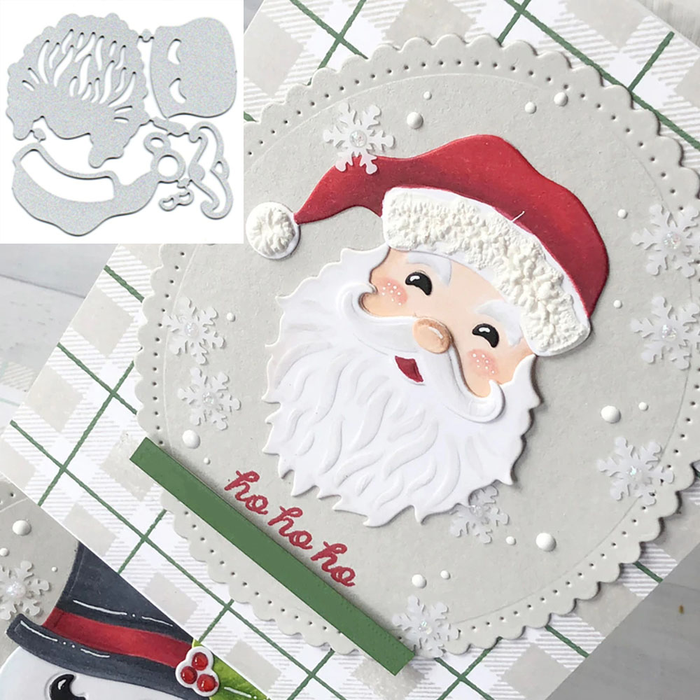 Christmas Santa Claus Metal Cutting Dies Stencils Template For DIY Scrapbooking Photo Card Decorative Paper Craft Dies Cut 2019