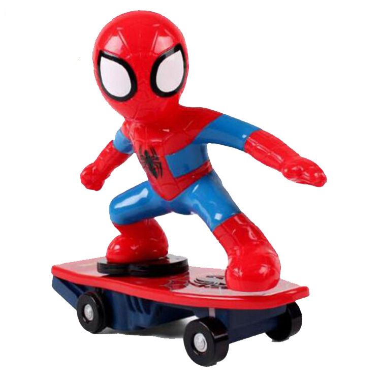 Douyin Celebrity Style Electric Universal Music Spider-Man Scooter Creative Boy Toy
