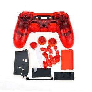 Image 5 - Jcd ps4 controlador personalizado limpar completo habitação gamepad caso botões capa kit substituição para sony playstation 4 v1
