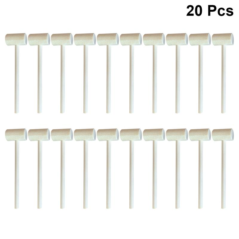 20 Вт, 30 Вт, 50/100 шт Массив дерева мини-молотки удара молоток игрушки креативная развивающая игрушка (круглый/Овальный)