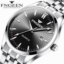 FNGEEN Series Watch men's Quartz Business Watch Stainless steel straps Waterproo