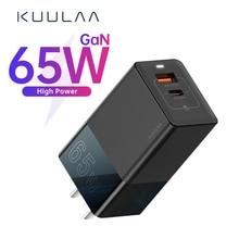 Usb-Adapter Fast-Charger KUULAA Xiaomi iPhone 65w Gan Laptop Type-C Portable PD QC