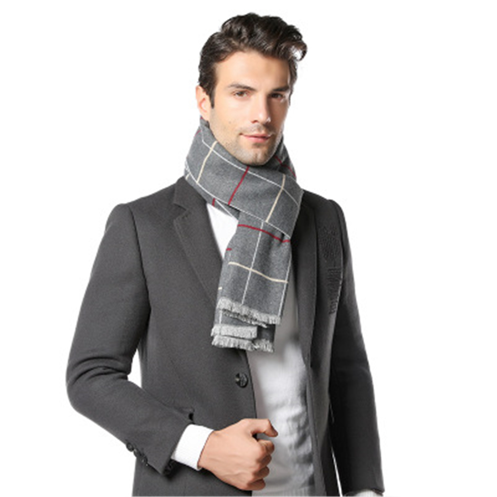 2021 New Fashion Design Men Scarves Winter Men's Cashmere Scarf High Quality Luxury Warm Neckerchief Business Scarves Dropship