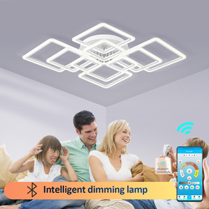 Image 2 - Modern LED ceiling lamp dimmable  remote control lamp bedroom living room ceiling lamp