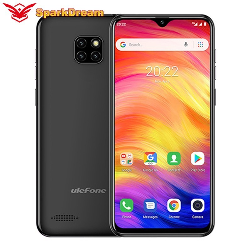 Ulefone Note 7 Smartphone 6.1 Inch Waterdrop Screen 19:9 1GB+16GB MT6580A Quad Core 3500mAh Face ID Android GO Mobile Phone