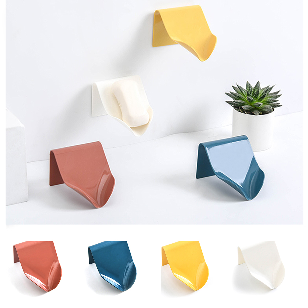 4 Colors Soap Holder Bathroom Shower Soap Storage Box Dish Plate Tray Holder Free Punching Drain Plastic Soap Box High Quality