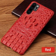 Signalshin Luxury 3D Genuine Leather Phone Case For Huawei Honor V20  V30 pro Crocodile Head Cover For Honor 8X 9X 10 20i case leather texture matte mobile phone case for huawei honor 30 v30 pro 30s 30 v30 v20 20i 20 10 9x 8x note10 phone cover