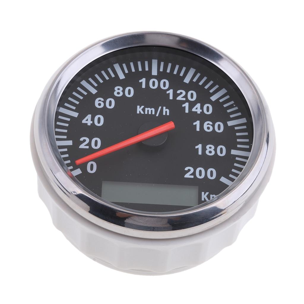 In Acciaio Inox 85 millimetri GPS Tachimetro 200 km/h Contachilometri Per Il Camion Auto Moto Impermeabile