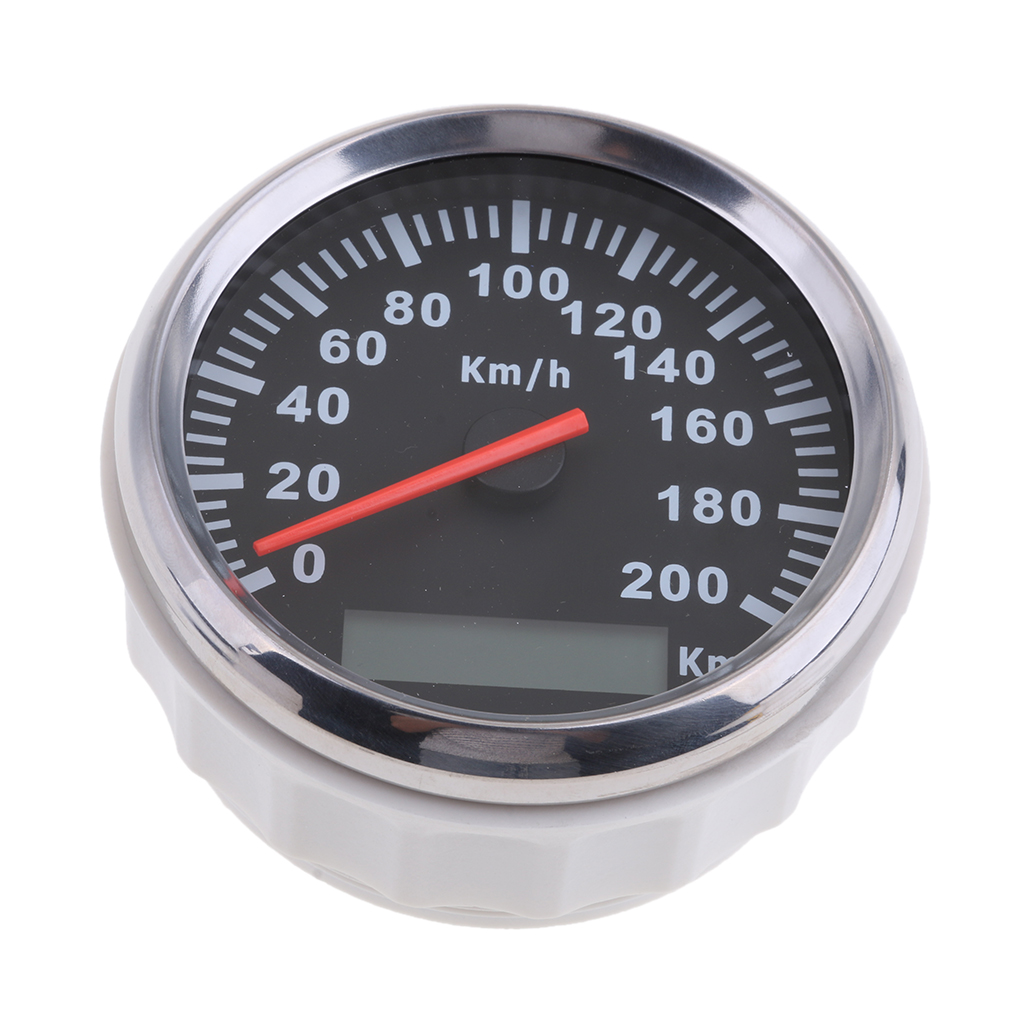 Stainless Steel 85mm GPS Speedometer 200km/h Odometer For Car Truck Motorcycle Waterproof