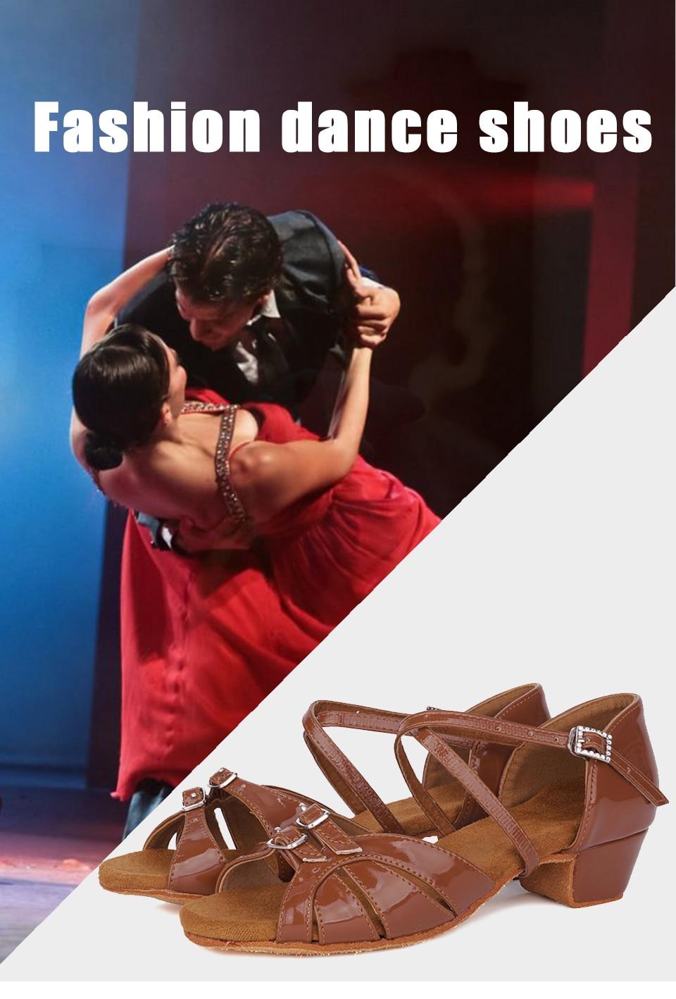 HIPPOSEUS Womens Ballroom Latin Standard Heeled Dance Shoes Sandals Suede Sole Heel 5CM//7CM,Model WZSP805