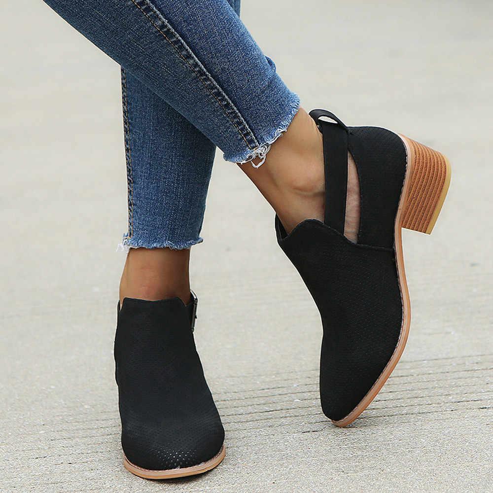 Cysincos botas de inverno das mulheres botas botas casuais das senhoras botas de camurça fivela de couro botas de salto alto zíper sapatos de neve para femme