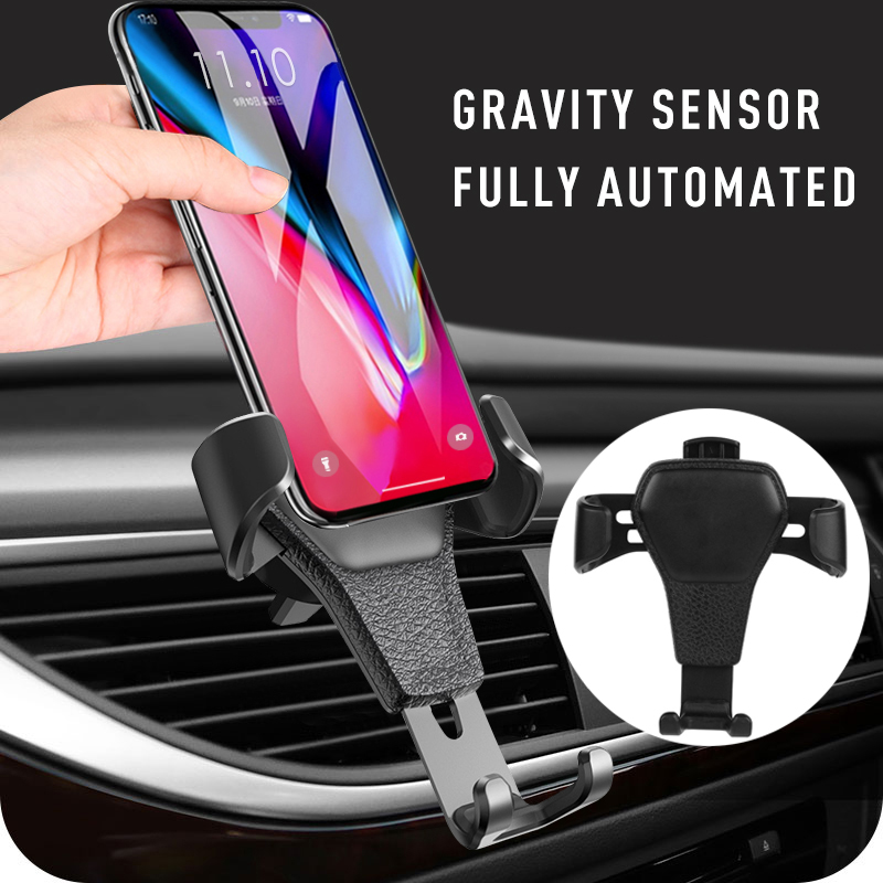 Gravity Car Phone Holder For Mobile Phone In Car Air Vent Mount Anti-skid Mobile Phone Holder GPS Air Outlet Phone Stand
