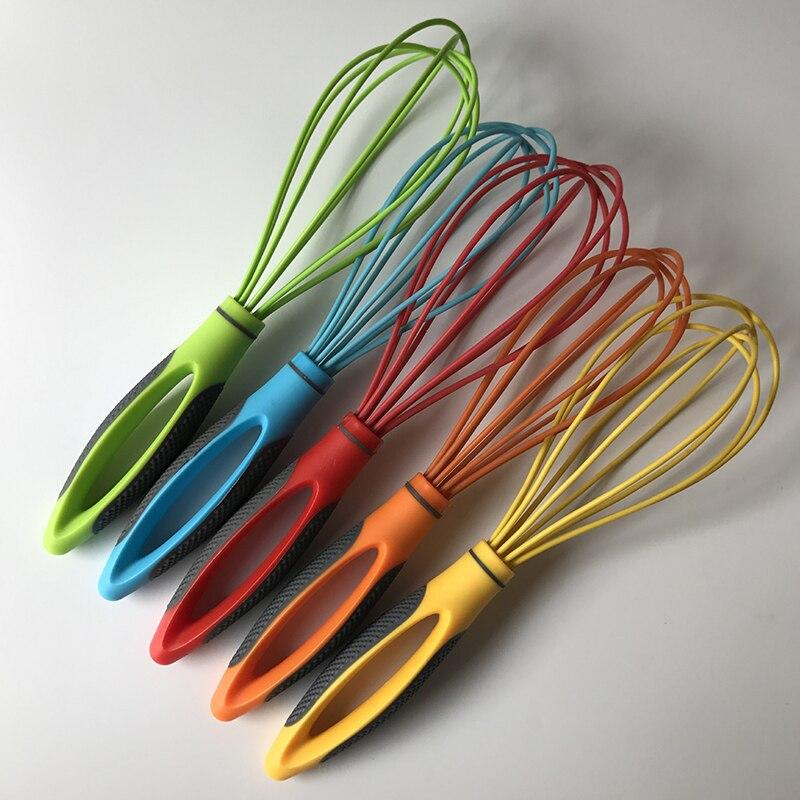 Ручной Миксер для яиц, силиконовый воздушный шар, венчик, Молочный Крем, кухонные принадлежности для смешивания, разделитель для перемешива...