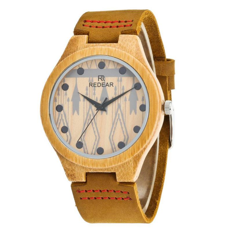 2020 Selling New Leather Quartz Bamboo Couples Watch Speed Sell Through Ebay Hot Style Male Ms Wood
