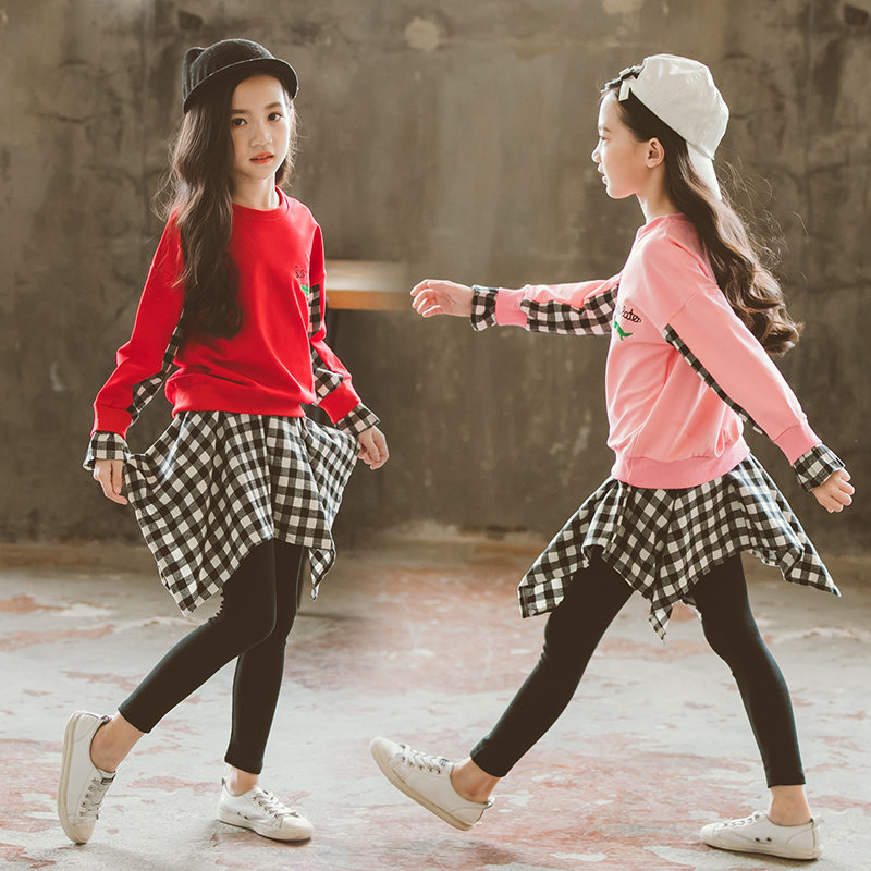 Children Clothing 2019 Autumn Winter Girls Clothes 2pcs Sets Fashion Kids Outfits Toddler Suit For