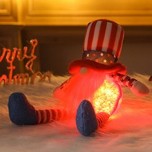 Doll Plush Gifts Glowing for Gnome Decorative Faceless-Figure-Toy Independence-Day Handmade