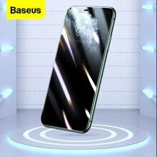 Baseus 0.25mm protetor de tela para iphone 11 pro proteção de privacidade máxima cobertura completa filme vidro temperado para iphone xs max xr x