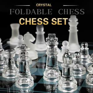 Chess Game Glass Acrylic Large-Size High-Quality 35CM Anti-Broken Elegant