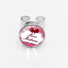 initial / Best-selling Creative Chaveiro Pattern Jewelry Merci Maitresse Fashion Snap Ring Glass Dome Initial