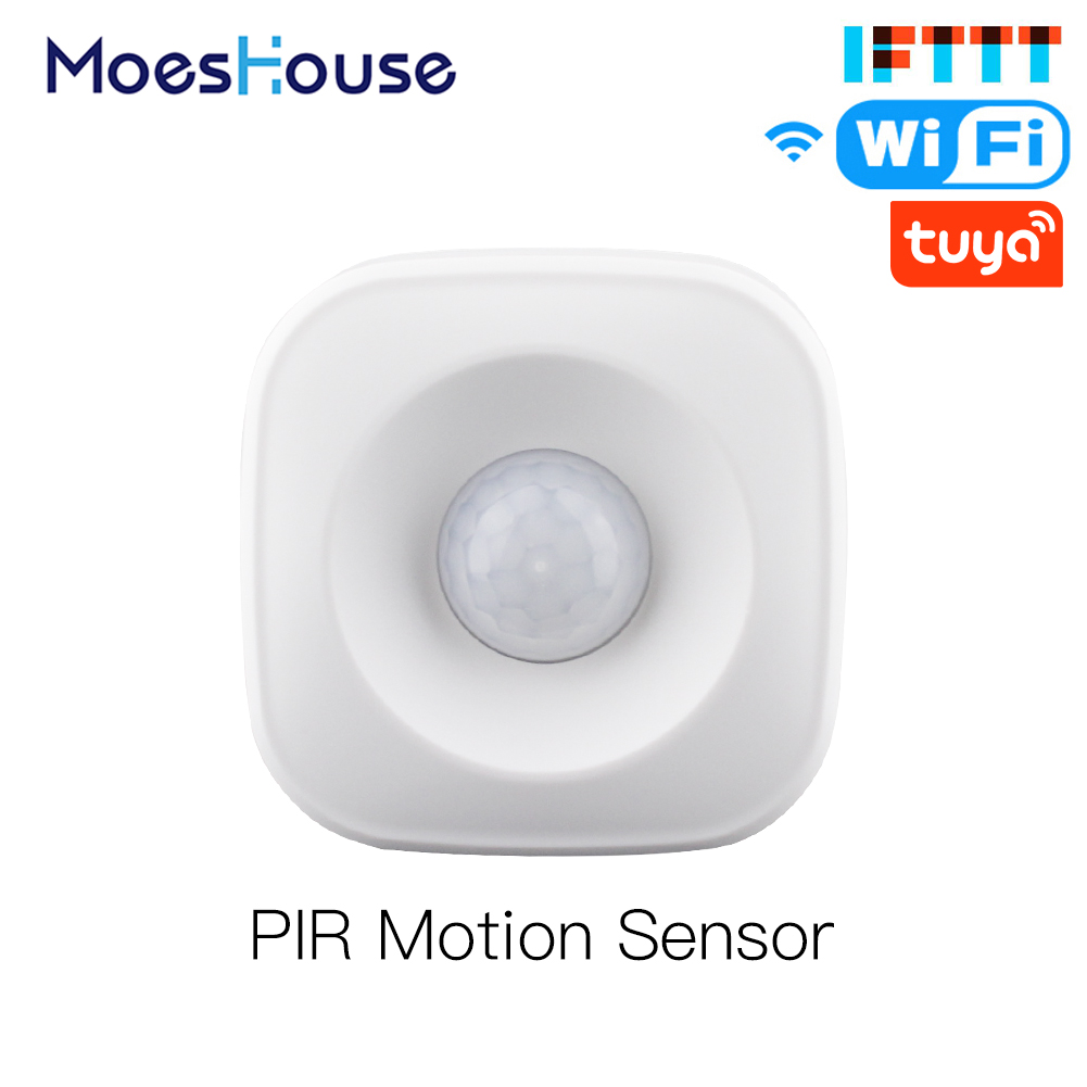 Smart WiFi PIR Motion Sensor Human Detector Smart Life Tuya App Control Alarm System Smart Body Movement Sensor Work with IFTTT 1