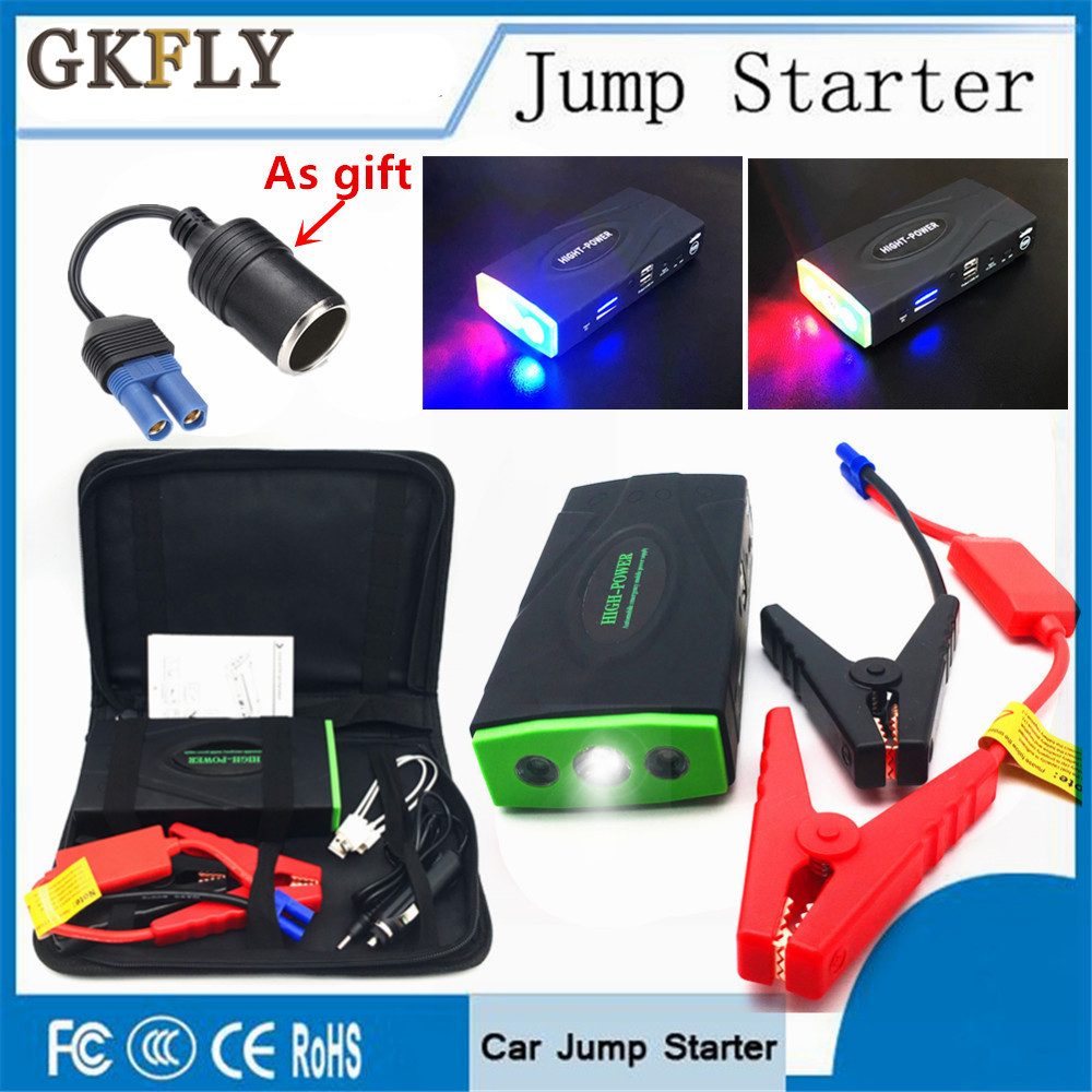 GKFLY Pro New 12000mAh Car Jump Starter Power Bank 12V 600A Portable Starting Device Car Charger For Car Battery Booster Buster