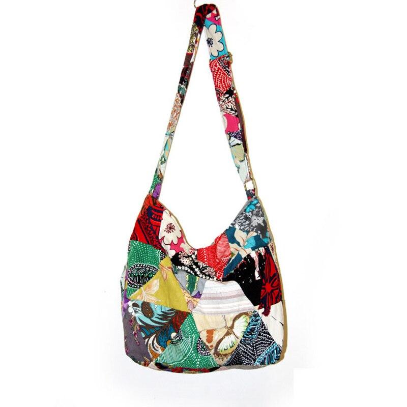 Image 2 - Adjustable Strap Bag Seamless Patchwork Handmade Bohemian Bags Women Shoulder Crossbody Messenger Bag Womens Handbagsmessenger shoulder bagshoulder bagsbags free shipping -