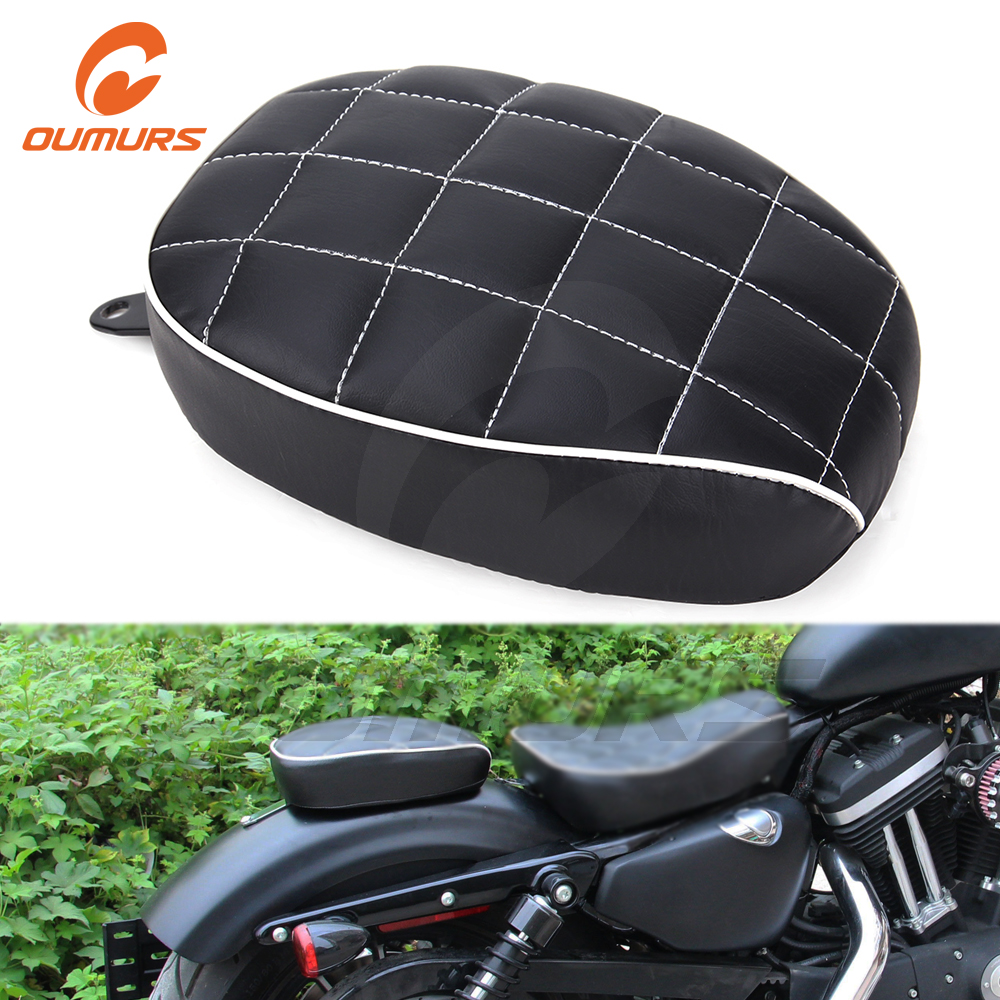OUMURS Motorcycle <font><b>Rear</b></font> Passenger Pillion Pad Tail <font><b>Seat</b></font> For Harley Sportster XL1200 XL883 Forty Eight Seventy Two <font><b>Iron</b></font> <font><b>883</b></font> image
