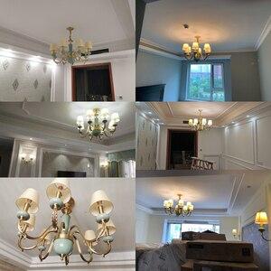 Image 3 - Модные потолочные люстры для гостиной керамические люстры с абажуром на кухню люстра потолочная с фарфорой подвесные светильники для спальни латунные люстры потолочные