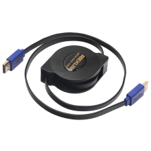 1m 1.8m Retractable Flexible HDMI Cable Male To Male V1.4 10