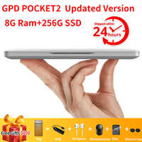 GPD Pocket 2 Pocket2 8GB 256GB 7 Inch Touch Screen Mini PC Pocket Laptop Notebook CPU Intel Celeron 3965Y Windows 10 Systerm