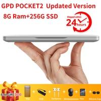 GPD Pocket 2 Pocket2 8GB 256GB 7 Inch Touch Screen Mini PC Pocket Laptop Notebook CPU Intel Celeron 3965Y Windows 10 Systerm