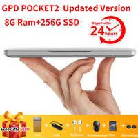 GPD Pocket 2 Pocket2 8GB 256GB 7 pouces écran tactile Mini PC poche ordinateur portable ordinateur portable CPU Intel Celeron 3965Y Windows 10 Systerm