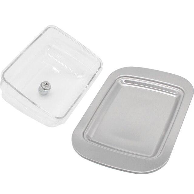 Conteneur boîte à beurre fromage boeuf   Boîte à beurre en acier inoxydable, support de rangement avec couvercle plat à beurre LC